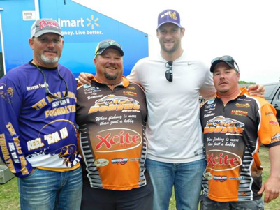 Lake Fork Guide Skeeter Fowler, Brian Robison, and Grand Champion Winners Tony and Tommy Climer
