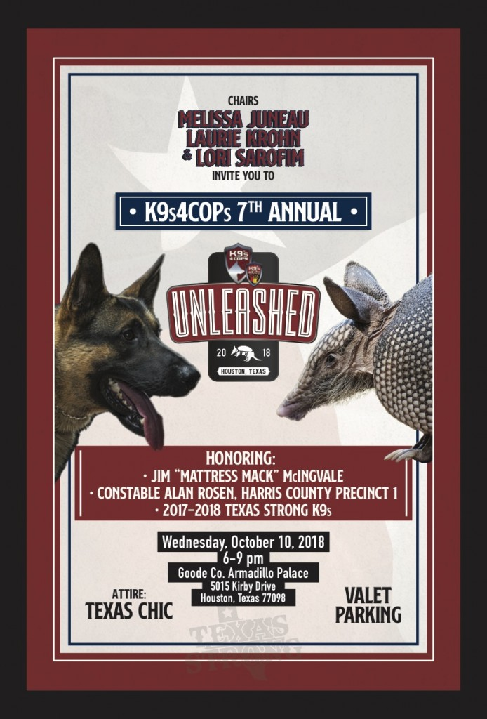 K9s4COPs Unleashed Invite Front 2018